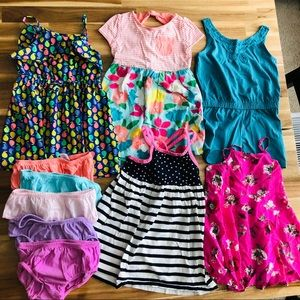 5 Dresses/Romper Girls 3t Bundle